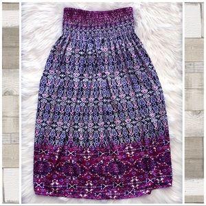 J. Jill | Boho Smock Waist Maxi Skirt XXL NWOT
